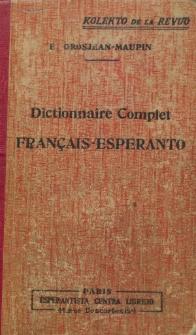 Dictionnaire Complet Français-Esperanto. Ed. 6 (Sixième Édition).