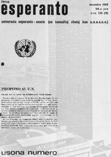Esperanto : revuo internacia : oficiala organo de Universala Esperanto Asocio. Jaro 59, n. 733 (1966)