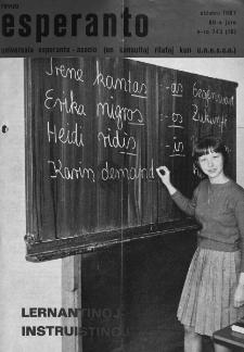 Esperanto : revuo internacia : oficiala organo de Universala Esperanto Asocio. Jaro 60, n. 743 (1967)