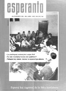 Esperanto : revuo internacia : oficiala organo de Universala Esperanto Asocio. Jaro 83, n. 1015/1016 (1990)