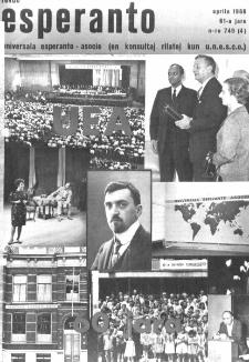 Esperanto : revuo internacia : oficiala organo de Universala Esperanto Asocio. Jaro 61, n. 749 (1968)