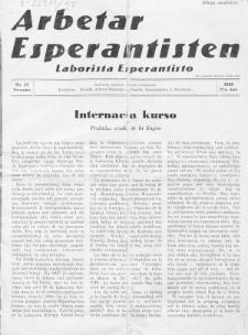 Arbetar Esperantisten = Laborista Esperantisto. Jaro 27, nr 12 (1948)