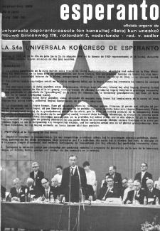 Esperanto : revuo internacia : oficiala organo de Universala Esperanto Asocio. Jaro 62, n. 766 (1969)