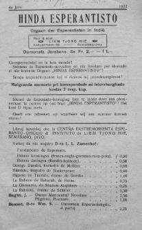 Hinda Esperantisto. Jaro 4a (1932)