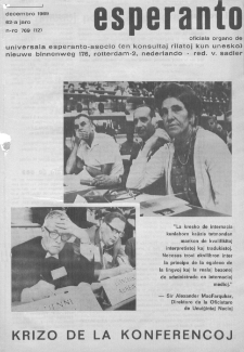 Esperanto : revuo internacia : oficiala organo de Universala Esperanto Asocio. Jaro 62, n. 769 (1969)
