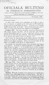 Oficiala Bulteno de Internacia Esperanto Ligo. Nr. 19 (1946)