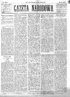 Gazeta Narodowa. R. 13 (1874), nr 184 (13 sierpnia)