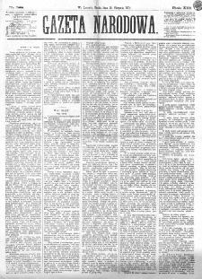 Gazeta Narodowa. R. 13 (1874), nr 188 (19 sierpnia)
