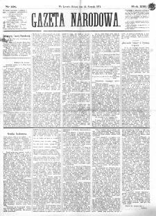 Gazeta Narodowa. R. 13 (1874), nr 191 (22 sierpnia)