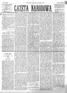 Gazeta Narodowa. R. 13 (1874), nr 195 (27 sierpnia)