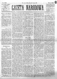 Gazeta Narodowa. R. 13 (1874), nr 196 (28 sierpnia)
