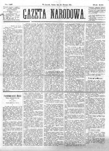 Gazeta Narodowa. R. 13 (1874), nr 197 (29 sierpnia)