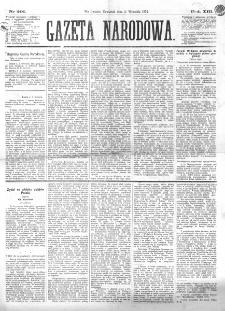 Gazeta Narodowa. R. 13 (1874), nr 201 (3 września)
