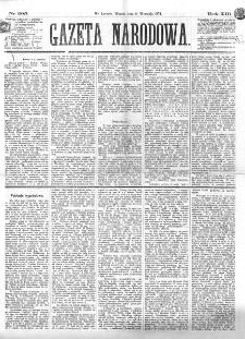 Gazeta Narodowa. R. 13 (1874), nr 205 (8 września)