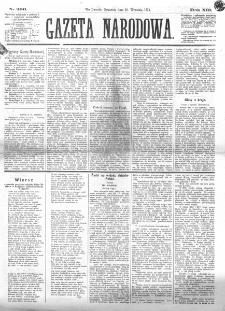 Gazeta Narodowa. R. 13 (1874), nr 206 (10 września)