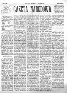 Gazeta Narodowa. R. 13 (1874), nr 210 (15 września)