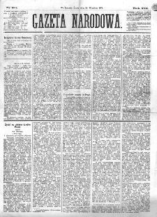 Gazeta Narodowa. R. 13 (1874), nr 211 (16 września)