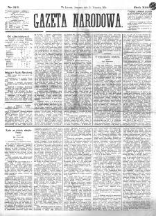 Gazeta Narodowa. R. 13 (1874), nr 212 (17 września)