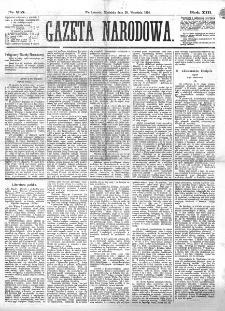 Gazeta Narodowa. R. 13 (1874), nr 215 (20 września)
