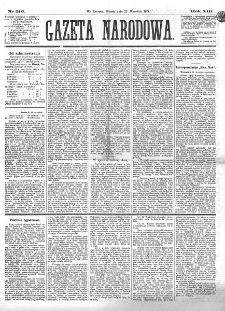 Gazeta Narodowa. R. 13 (1874), nr 216 (22 września)
