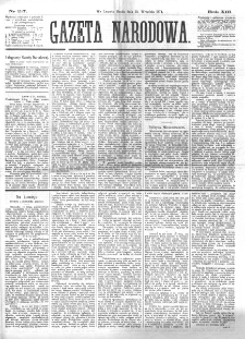 Gazeta Narodowa. R. 13 (1874), nr 217 (23 września)