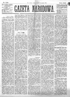 Gazeta Narodowa. R. 13 (1874), nr 220 (26 września)