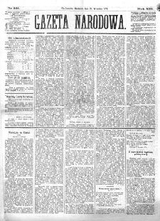 Gazeta Narodowa. R. 13 (1874), nr 221 (27 września)