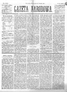 Gazeta Narodowa. R. 13 (1874), nr 222 (29 września)