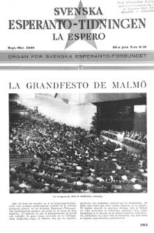 Lâ Espero : officiellt organ för Svenska Esperanto-Förbundet (S.E.F.) : organ för Esperanto-rörelsen i Sverige. Arg. 36, Nr 9/10 (1948)