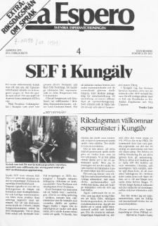 Lâ Espero : officiellt organ för Svenska Esperanto-Förbundet (S.E.F.) : organ för Esperanto-rörelsen i Sverige. Jarkolekto 67a, Nr 4 (1979)