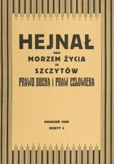 Hejnał nad Morzem Życia ze Szczytów Prawd Ducha i Praw Człowieka. Z. 4 (1929)