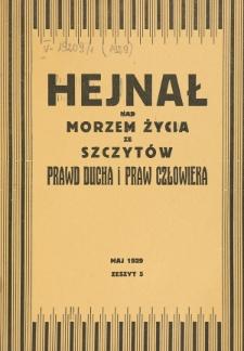 Hejnał nad Morzem Życia ze Szczytów Prawd Ducha i Praw Człowieka. Z. 5 (1929)