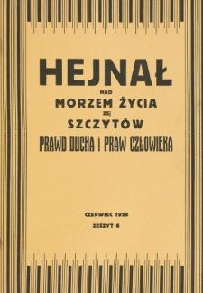 Hejnał nad Morzem Życia ze Szczytów Prawd Ducha i Praw Człowieka. Z. 6 (1929)