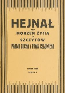 Hejnał nad Morzem Życia ze Szczytów Prawd Ducha i Praw Człowieka. Z. 7 (1929)