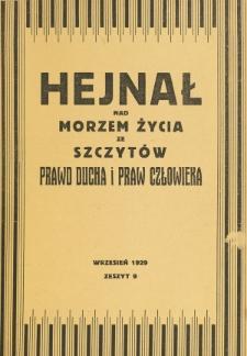 Hejnał nad Morzem Życia ze Szczytów Prawd Ducha i Praw Człowieka. Z. 9 (1929)