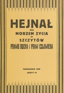 Hejnał nad Morzem Życia ze Szczytów Prawd Ducha i Praw Człowieka. Z. 10 (1929)