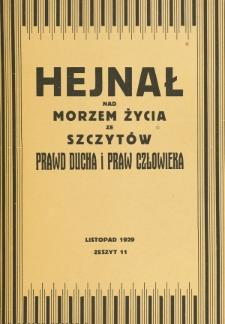 Hejnał nad Morzem Życia ze Szczytów Prawd Ducha i Praw Człowieka. Z. 11 (1929)