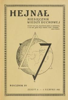 Hejnał nad Morzem Życia ze Szczytów Prawd Ducha i Praw Człowieka. R. 4, Z. 8 (1932)