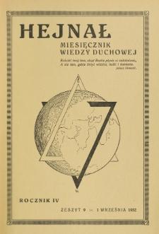 Hejnał nad Morzem Życia ze Szczytów Prawd Ducha i Praw Człowieka. R. 4, Z. 9 (1932)