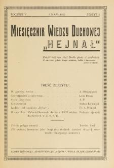 Hejnał nad Morzem Życia ze Szczytów Prawd Ducha i Praw Człowieka. R. 5, Z. 5 (1933)