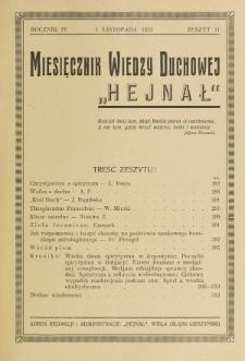 Hejnał nad Morzem Życia ze Szczytów Prawd Ducha i Praw Człowieka. R. 4, Z. 11 (1932)