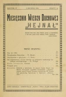 Hejnał nad Morzem Życia ze Szczytów Prawd Ducha i Praw Człowieka. R. 4, z. 12 (1932)