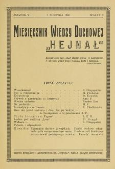 Hejnał nad Morzem Życia ze Szczytów Prawd Ducha i Praw Człowieka. R. 5, Z. 8 (1933)
