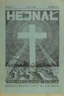 Hejnał nad Morzem Życia ze Szczytów Prawd Ducha i Praw Człowieka. R. 8, Z. 2 (1936)