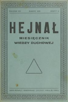 Hejnał nad Morzem Życia ze Szczytów Prawd Ducha i Praw Człowieka. R. 8, Z. 3 (1936)
