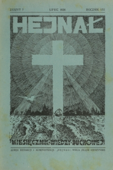 Hejnał nad Morzem Życia ze Szczytów Prawd Ducha i Praw Człowieka. R. 8, Z. 7 (1936)