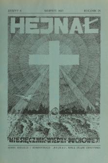 Hejnał nad Morzem Życia ze Szczytów Prawd Ducha i Praw Człowieka. R. 9, Z. 8 (1937)