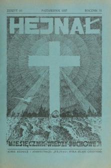 Hejnał nad Morzem Życia ze Szczytów Prawd Ducha i Praw Człowieka. R. 9, Z. 10 (1937)