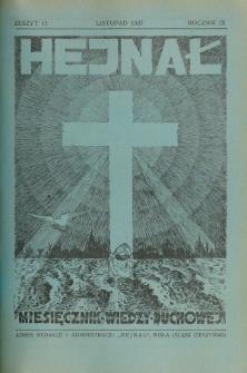 Hejnał nad Morzem Życia ze Szczytów Prawd Ducha i Praw Człowieka. R. 9, Z. 11 (1937)