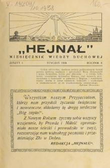 Hejnał nad Morzem Życia ze Szczytów Prawd Ducha i Praw Człowieka. R. 10, Z. 1 (1938)